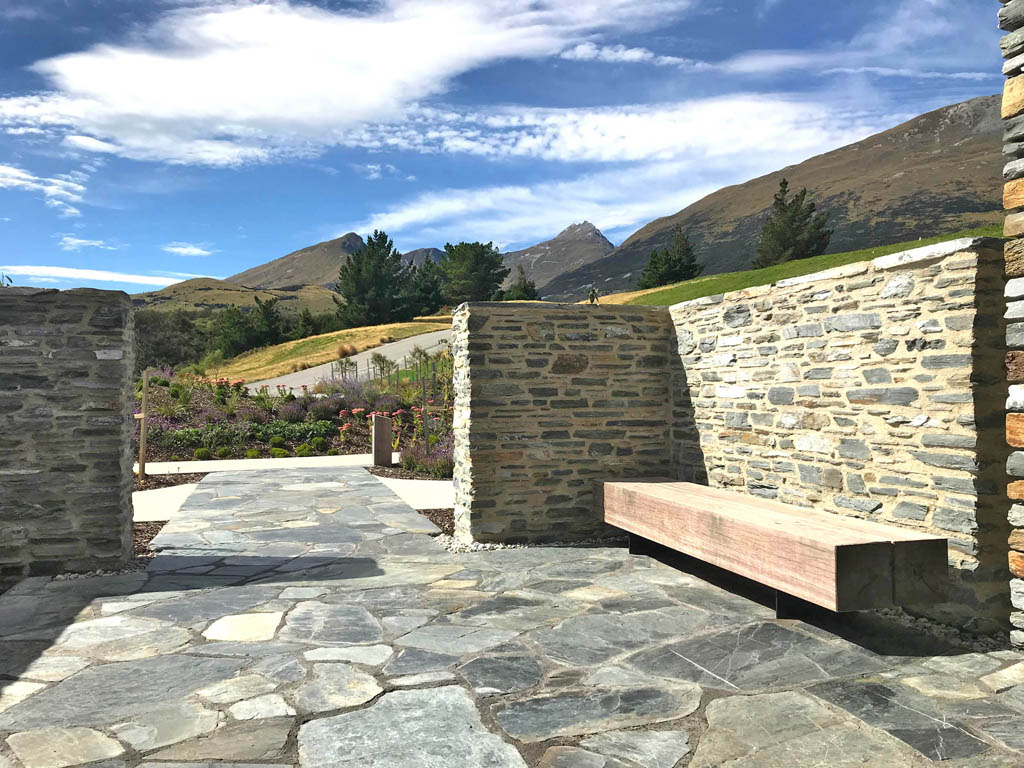 Blanket Bay Villas courtyard