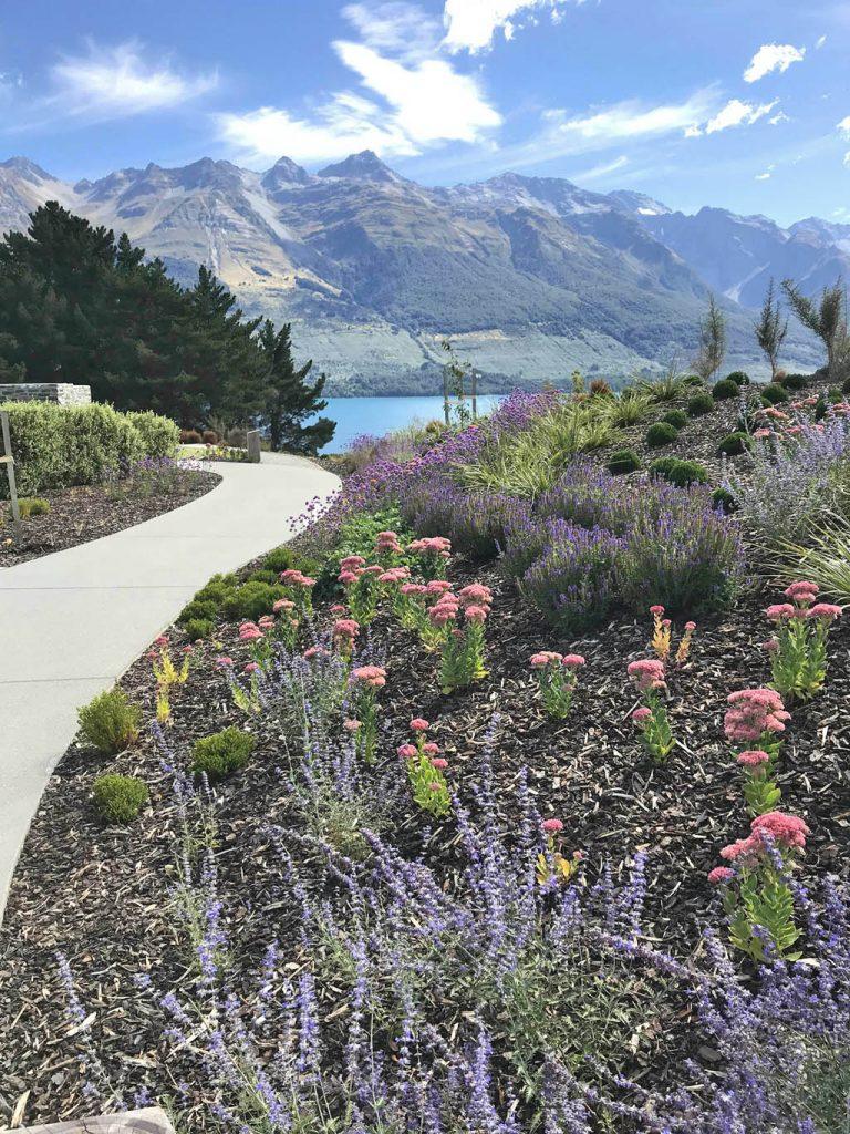 Blanket Bay Villas mountain garden
