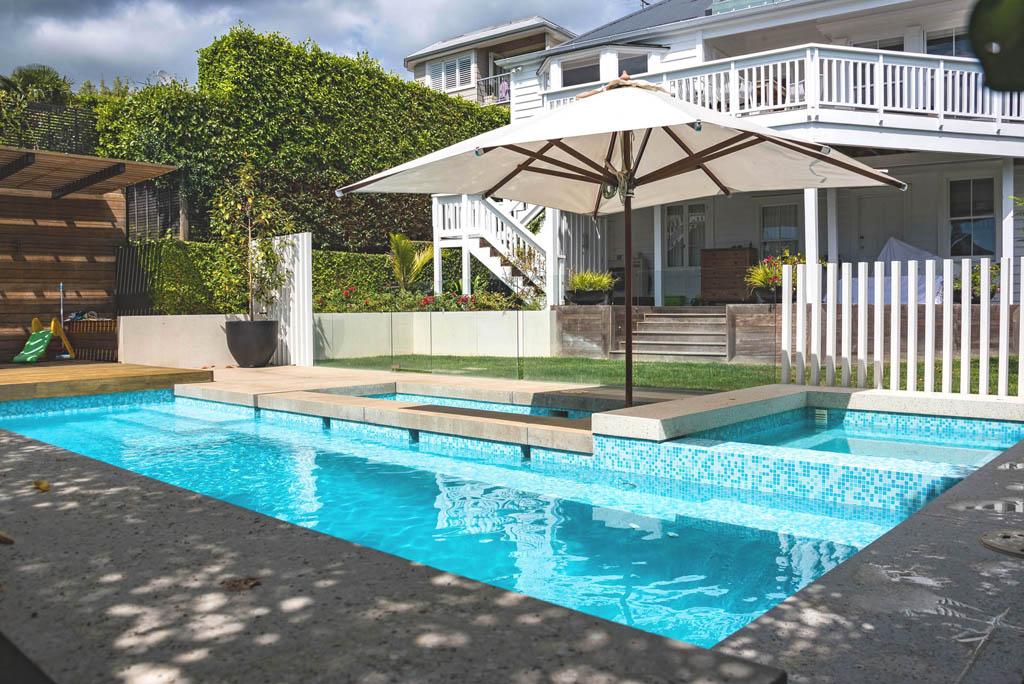 Freemans Bay pool landscape design